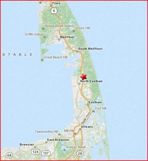 Eastham Cape Cod Map: Cape Cod Vacation Rental: House For Rent In Eastham